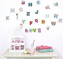 Aufkleber Der Wand 3Dcartoon Bunte 26 Buchstaben