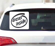 Aufkleber DIESEL INSIDE, Auto Tuning Shocker DUB