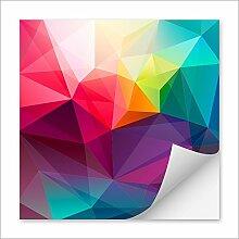 Aufkleber drucken mit Ihrem individuellem Motiv | quadratisch 200x200mm | Oberfläche matt | Kleber festhaftend | 50 Stück