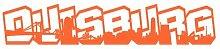 Aufkleber Duisburg Schriftzug Skyline Autoaufkleber in 9 Größen und 25 Farben (80x15,2cm orange)