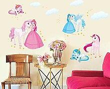 Aufkleber Einhorn Wandaufkleber Kinderzimmer