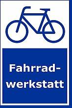 Aufkleber – Fahrrad-Werkstatt - 60x40cm –