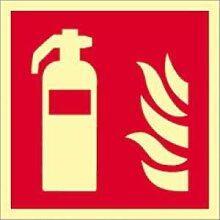Aufkleber Feuerlöscher gemäß ISO 7010 HIGHLIGHT
