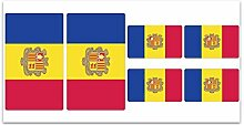 Aufkleber-Flagge Andorra? Z149