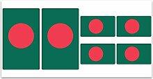 Aufkleber-Flagge Bangladesh? Z160