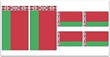 Aufkleber-Flagge Belarus–Z165