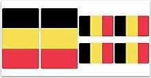 Aufkleber-Flagge Belgien? Z119