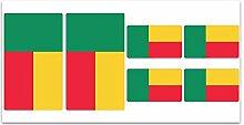 Aufkleber-Flagge Benin? Z163