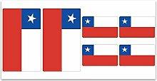 Aufkleber-Flagge Chile–Z181