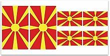 Aufkleber-Flagge Mazedonien-Z241