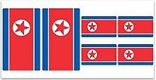 Aufkleber-Flagge Nordkorea-Z185