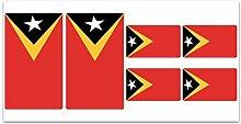 Aufkleber-Flagge Osttimor–Z304