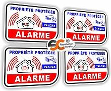 Aufkleber, französische Aufschrift: Alarme Vidéo