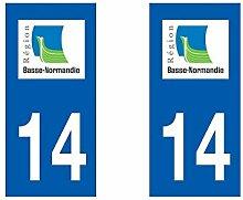 Aufkleber für Auto-Kennzeichen, Normandie, Abteilung-Griff, Normandie/50
