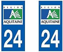 Aufkleber für Auto-Zulassung-Abteilung Aquitaine