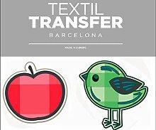 Aufkleber Für das Textil -, Vogel-Und Apple -