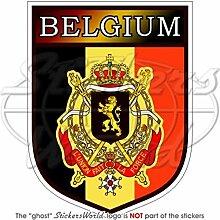 Aufkleber für die Stoßstange mit belgischem Wappen, 10,2cm, Vinyl