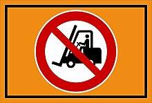 Aufkleber - Für Flurförderzeuge verboten -