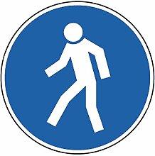 Aufkleber Für Fußgänger 40cm Ø Folie gemäß