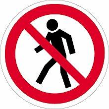 Aufkleber Für Fußgänger verboten, 40cm Ø Folie