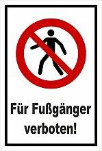 Aufkleber - Für Fußgänger verboten - entspr.