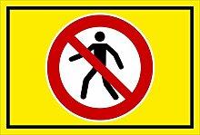 Aufkleber - Für Fußgänger verboten - entspr. DIN ISO 7010 / ASR A1.3 – 60x40cm – S00355-012-C +++ in 20 Varianten erhältlich