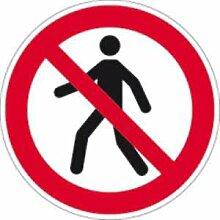 Aufkleber Für Fußgänger verboten ISO 7010