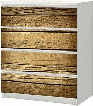 Aufkleber für IKEA Malm Kommode 80x100cm Holz 1