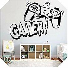 Aufkleber für Kinder   Gamer Vinyl Wandaufkleber