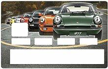 Aufkleber für Kreditkarten, Porsche 911