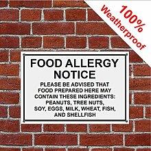 Aufkleber für Lebensmittelallergiker 3216