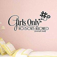 Aufkleber für Mädchen Nur Zimmer Keine Jungen