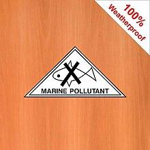 Aufkleber für Meeresschadstoffe, wetterfest,