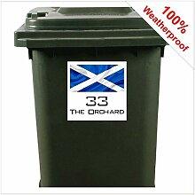 Aufkleber für Mülltonnen mit irischer Flagge,