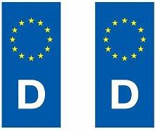 Aufkleber für Nummernschild, europäische Länder eurologo–Auto / Niederlande