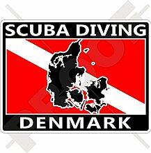 Aufkleber für Stoßstange, dänische Flagge, 100