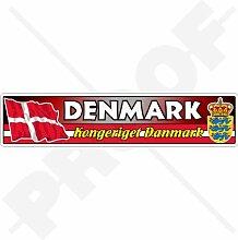 Aufkleber für Stoßstange, dänische Flagge,