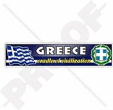 Aufkleber für Stoßstange, griechische Flagge,