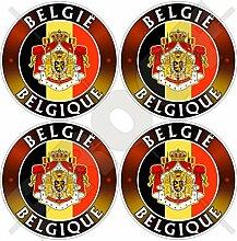 Aufkleber für Stoßstange, Helm, Belgien,