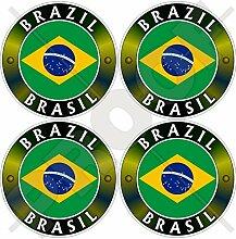 Aufkleber für Stoßstange, Helm, brasilianische