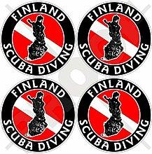 Aufkleber für Stoßstange, Helm, Finnland-Flagge,
