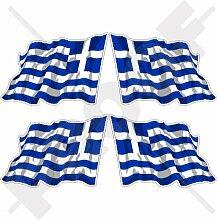 Aufkleber für Stoßstange, Helm, griechische
