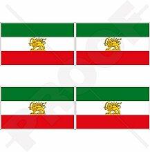 Aufkleber für Stoßstange, Helm, Iran-Flagge, 50