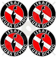 Aufkleber für Stoßstange, Helm, Israel Flagge,
