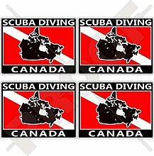 Aufkleber für Stoßstange, Helm, Kanada-Flagge,