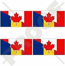 Aufkleber für Stoßstange, Helm, Kanada und
