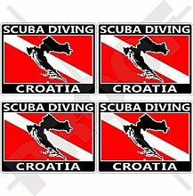 Aufkleber für Stoßstange, Helm, kroatische