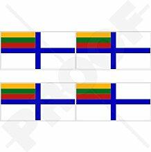 Aufkleber für Stoßstange, Helm, Litauen-Flagge,