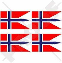 Aufkleber für Stoßstange, Helm, norwegische