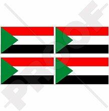 Aufkleber für Stoßstange, Helm, Sudanesische